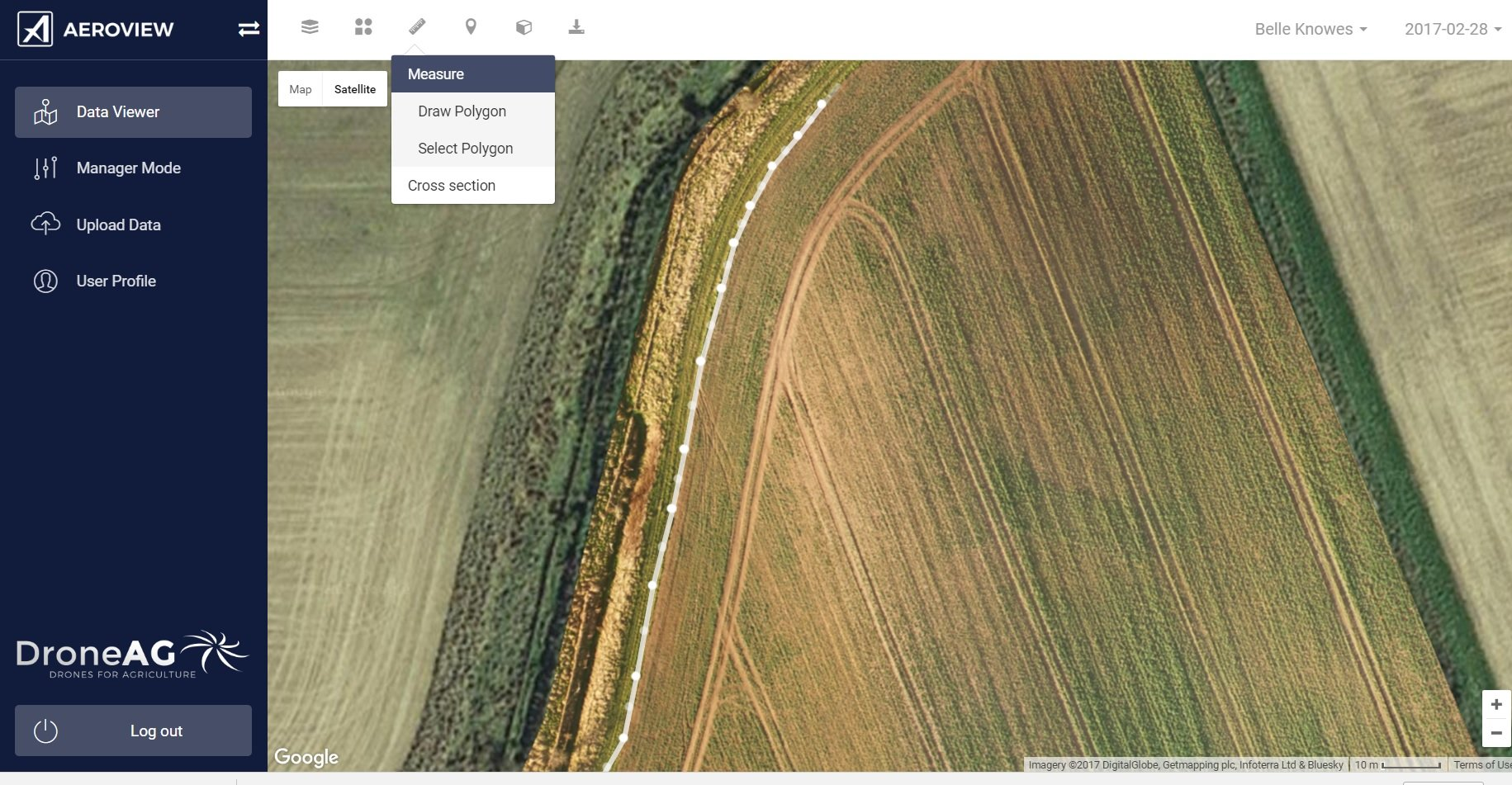 boundary drawn on uav rtk map