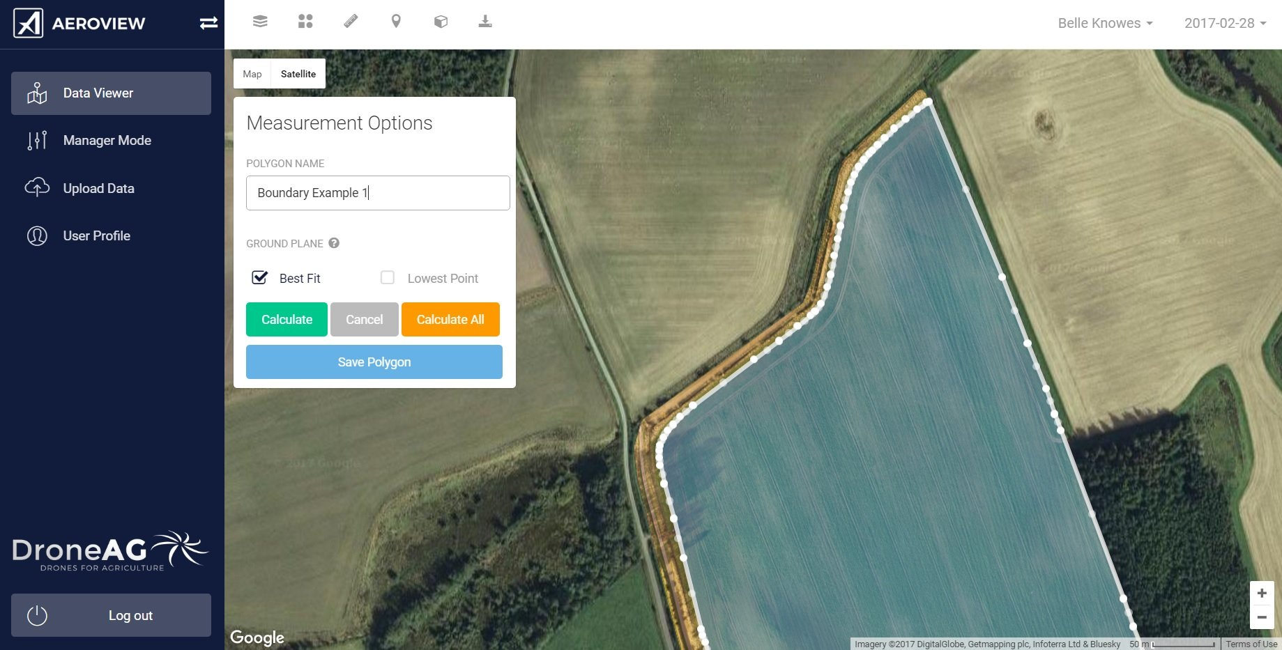 boundary from rtk drone map
