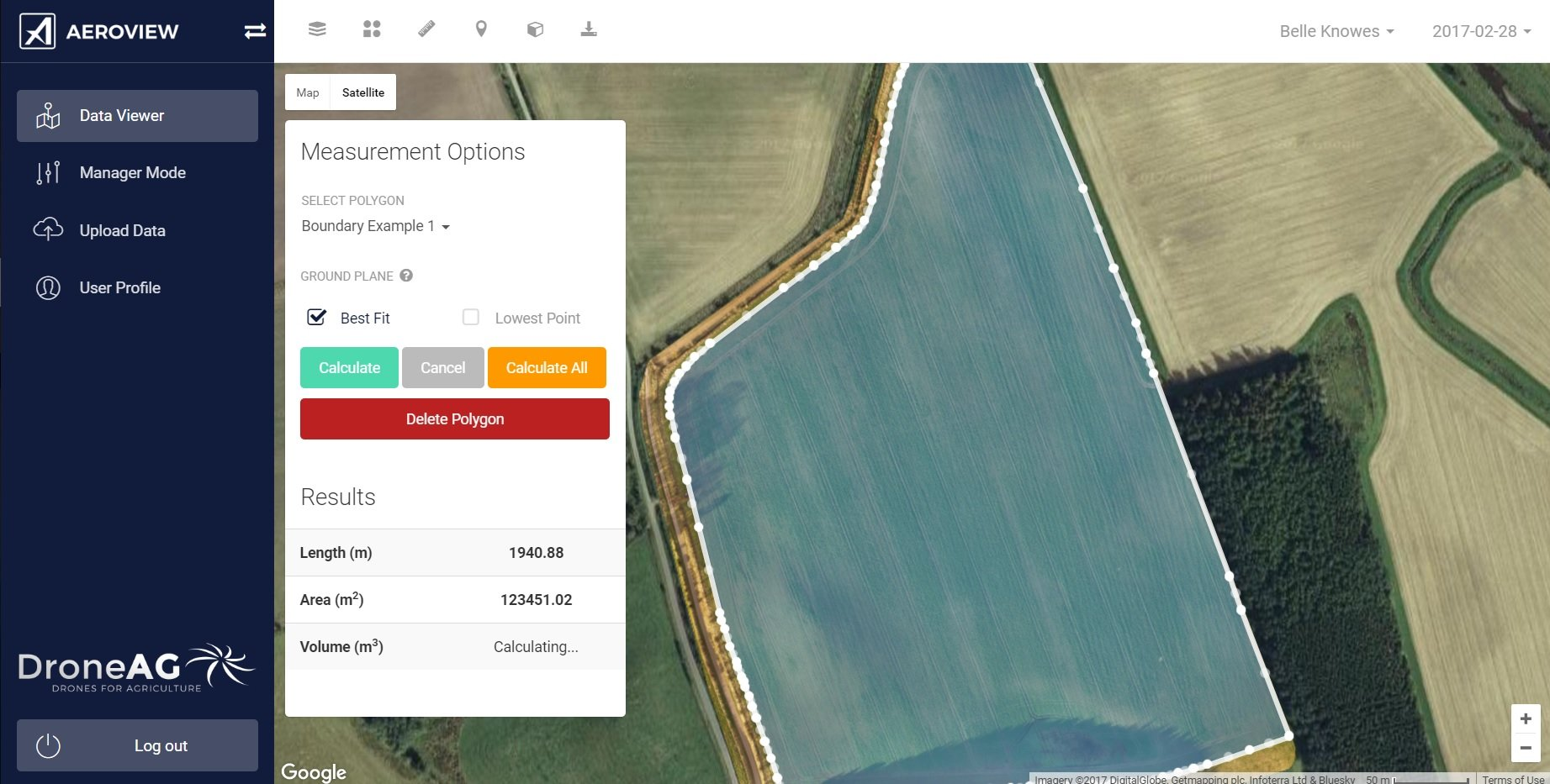 Drone based RTK field mapping