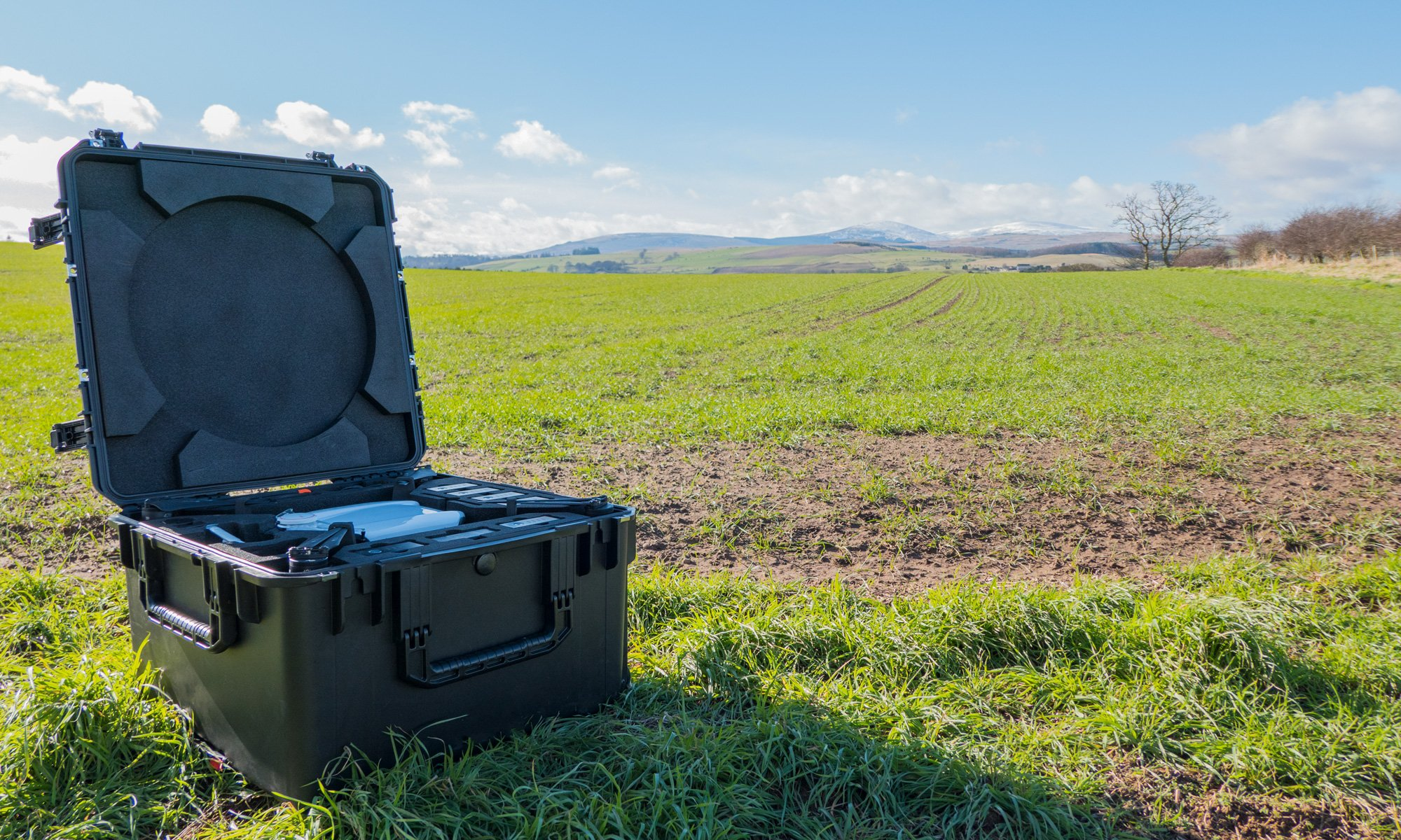 Storm Agriculture Drone open case in feild