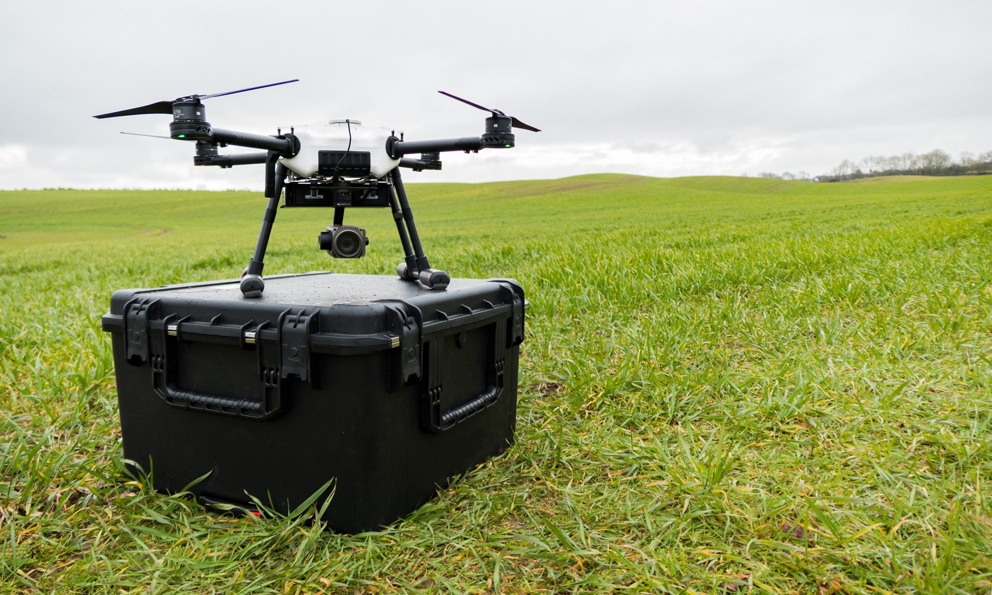 Storm Drone on case with DJI Z30