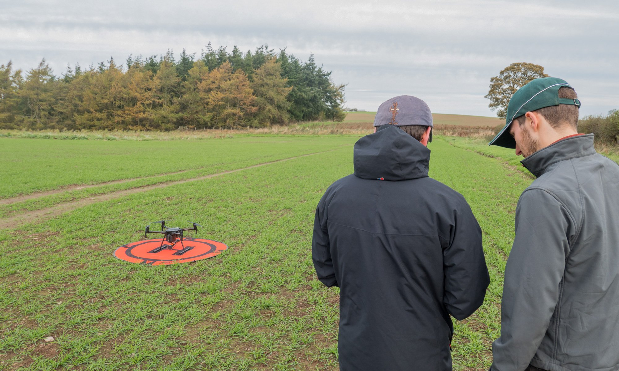 Drone training for farming
