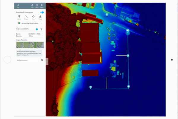 Drone elevation map