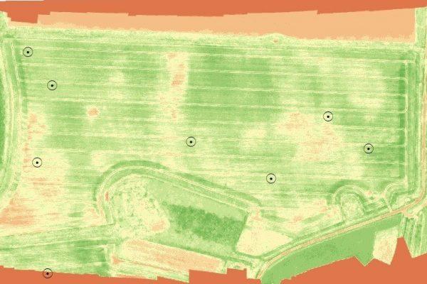drone, NDVI v Nirtrogen